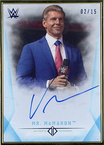 2019 Topps WWE Transcendent Vince McMahon Autograph Blue