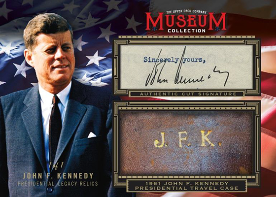 2019 Upper Deck Goodwin Champions Museum Collection Cut Signature Relic JFK