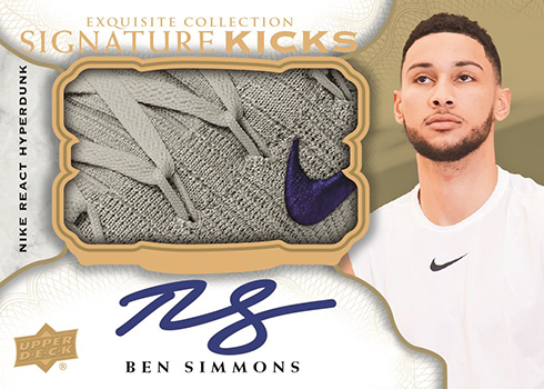 2019 Upper Deck Goodwin Champions Signature Kicks Ben Simmons