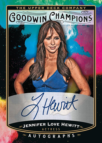 2019 Upper Deck Goodwin Champions Splash of Color Autographs Jennifer Love Hewitt