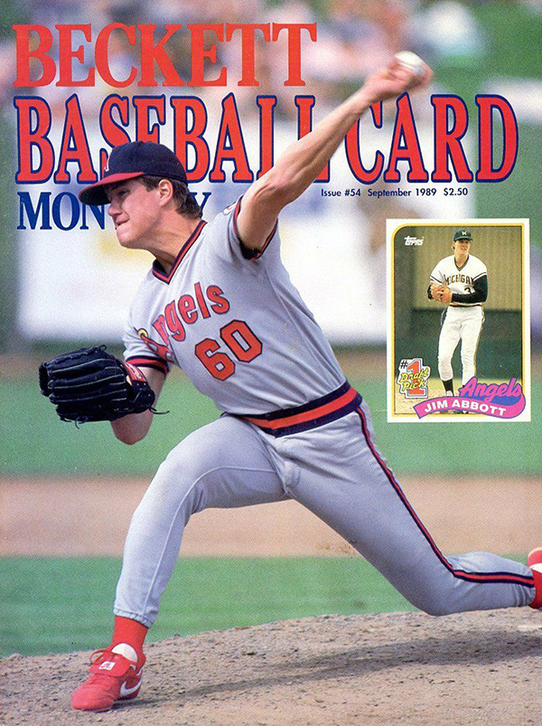 Beckett Baseball September 1989 Jim Abbott