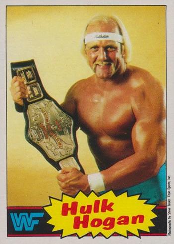 1985 Topps WWF Pro Wrestling Stars 1 Hulk Hogan