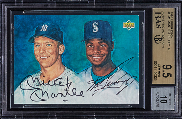 e32379802b5 Huge Collection of Famous 1990s Autographed Baseball Cards at Auction