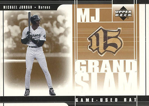 2001 Upper Deck Prospect Premieres MJ Grandslam Game Bat Michael Jordan