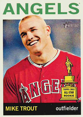 2013 Topps Heritage Mike Trout SP