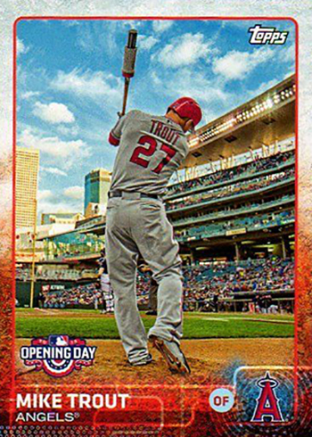2015 Topps Opening Day Variations Mike Trout