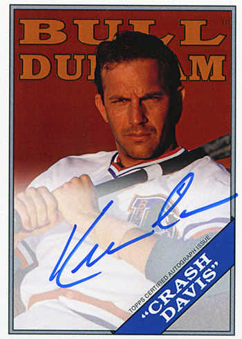 2016 Topps Archives Bull Durham Autographs Kevin Costner