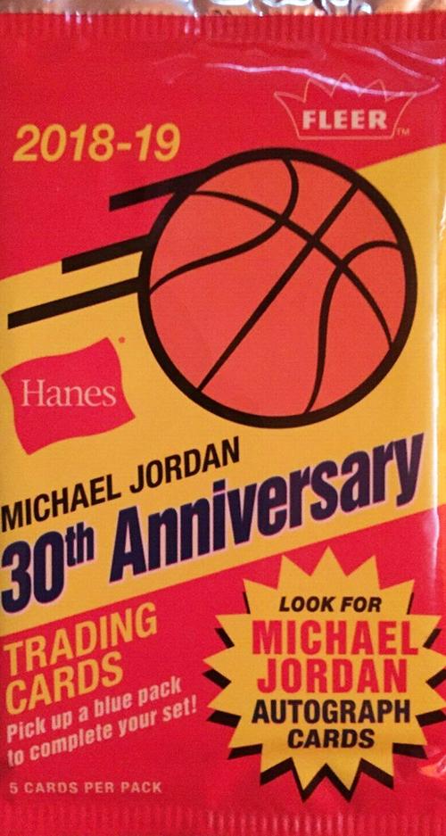 2018-19 Fleer Hanes Michael Jordan 30th Anniversary Pack