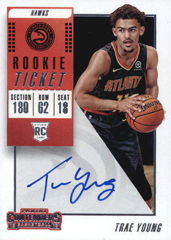 2018-19 Panini Contenders Trae Young RC Autograph