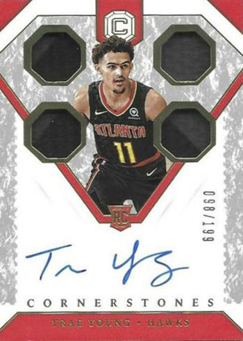 2018-19 Panini Cornerstones Basketball Trae Young