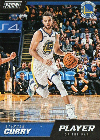 2018-19 Panini NBA Player of the Day 4 Stephen Curry