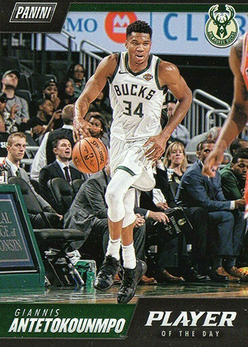 2018-19 Panini NBA Player of the Day 7 Giannis Antetokounmpo