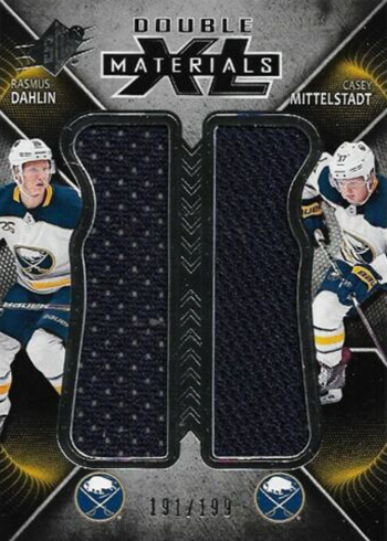 2018-19 SPx Hockey Double XL Materials Rasmus Dahlin Casey Mittelstadt
