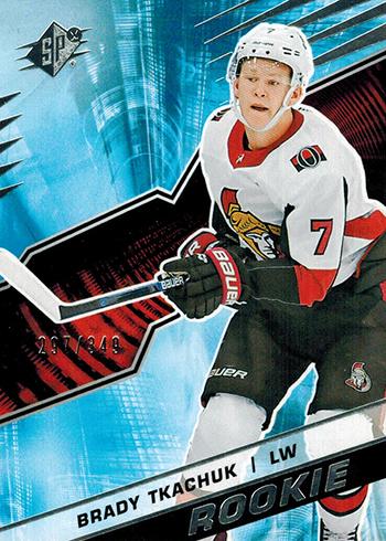 2018-19 SPx Hockey Rookies Brady Tkachuk