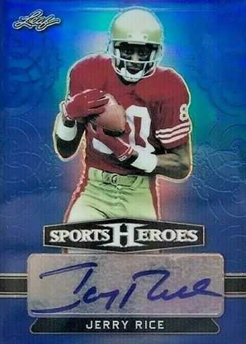 2018 Leaf Metal Sports Heroes Base Autographs Blue Jerry Rice
