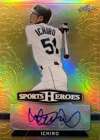 2018 Leaf Metal Sports Heroes Base Autographs Gold Ichiro
