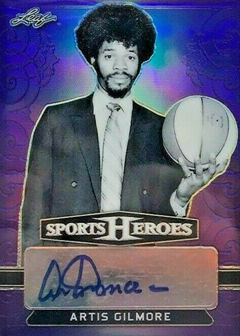 2018 Leaf Metal Sports Heroes Base Autographs Purple Artis Gilmore