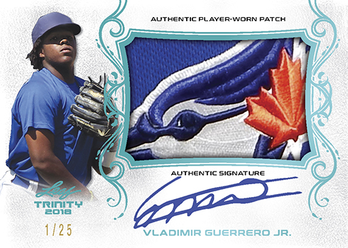 2018 Leaf Trinity Baseball Patch Auto Guerrero