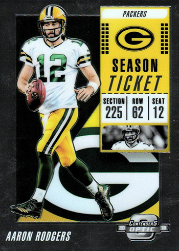 2018 Panini Contenders Optic Football Aaron Rodgers