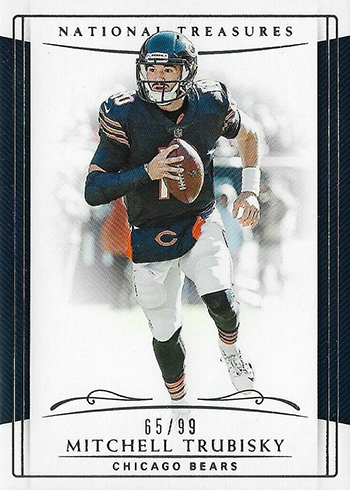 2018 Panini National Treasures Football Mitchell Trubisky