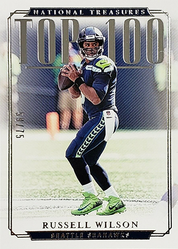 2018 Panini National Treasures Football Top 100 Russell Wilson