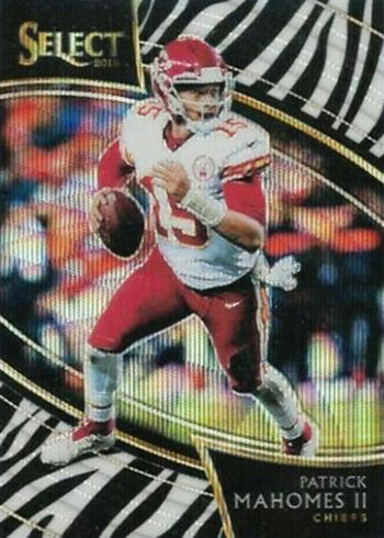 2018 Select Football Zebra Patrick Mahomes