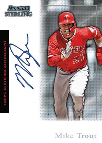 2019 Bowman Sterling Baseball Sterling Retrospect Autograph