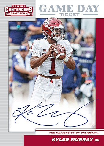 2019 Panini Contenders Darft Picks Football Game Day Ticket Kyler Murray Autograph
