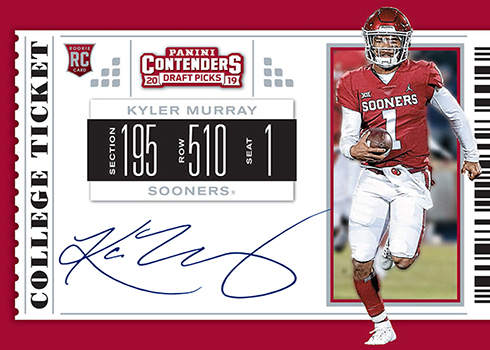 best authentic fc0ff 54833 Kyler Murray Autograph Cards Coming from Panini