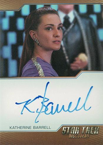 2019 Rittenhouse Star Trek Discovery Season 1 Bordered Autographs Katherine Barrell