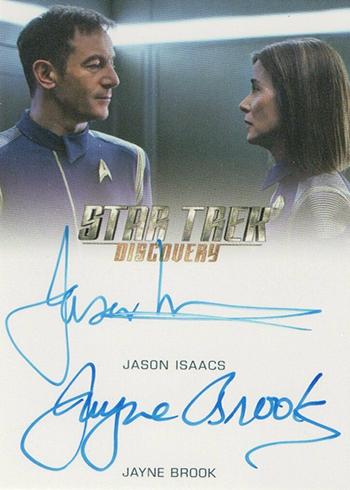 2019 Rittenhouse Star Trek Discovery Season 1 Dual Autographs Jason Isaacs Jayne Brook