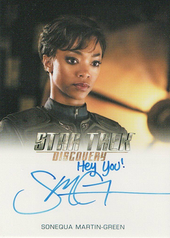 2019 Rittenhouse Star Trek Discovery Season 1 Full-Bleed Autographs Sonequa Martin Green Hey You