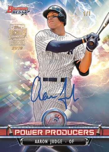 2019 Topps Archives Signature Series Baseball Judge
