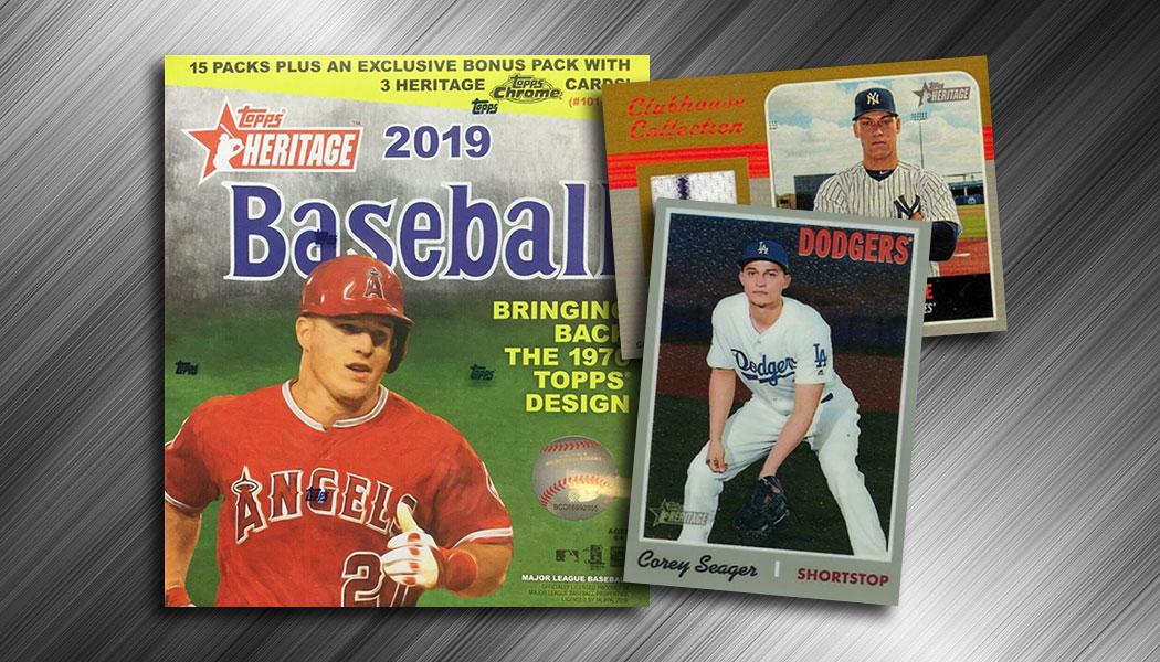 2019 Topps Heritage Baseball Chrome Mega Box Checklist Exclusives