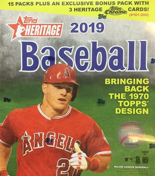 2019 Topps Heritage Baseball Chrome Mega Box