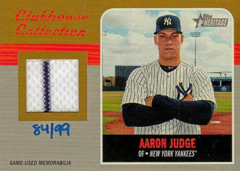 2019 Topps Heritage Clubhouse Collection Mega Box Variation Gold Aaron Judge