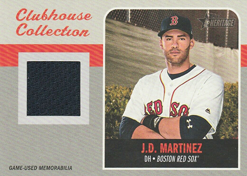 2019 Topps Heritage Clubhouse Collection Mega Box Variation JD Martinez