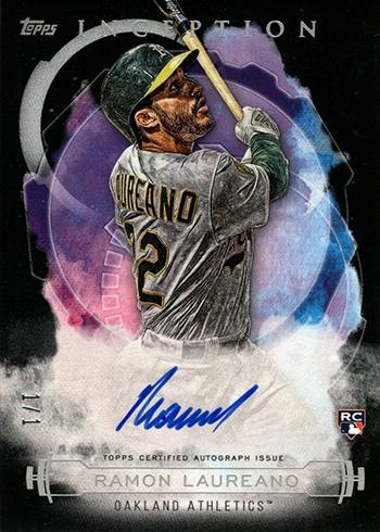 2019 Topps Inception Baseball Black Autographs Ramon Laureano