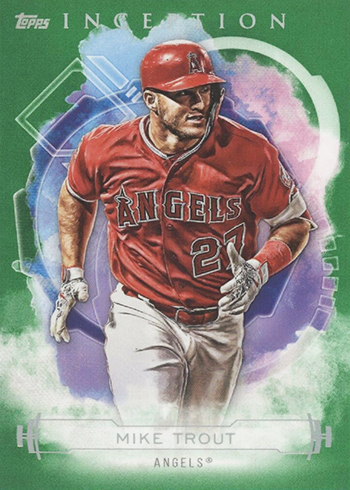 2019 Topps Inception Baseball Green Mike Trout