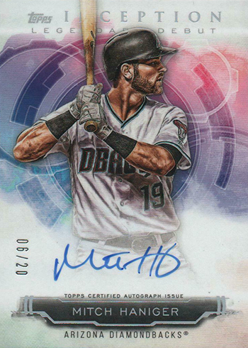 2019 Topps Inception Baseball Legendary Debut Autographs Mitch Haniger