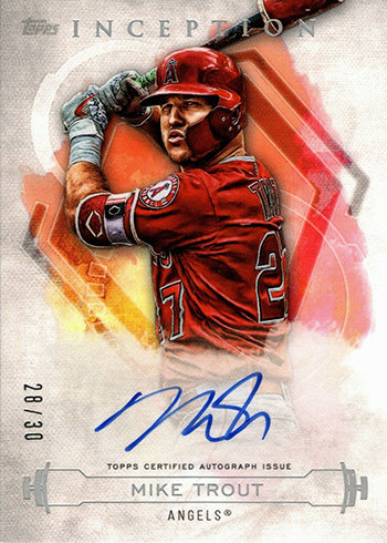 2019 Topps Inception Baseball Mike Trout Autograph
