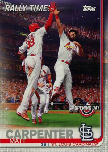 2019 Topps Opening Day Baseball Rally Time Matt Carpenter