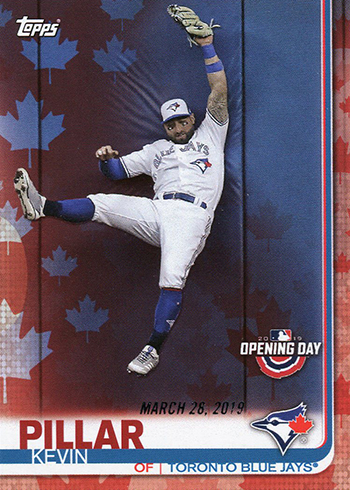 2019 Topps Opening Day Baseball Red Maple Leaf Kevin Pillar