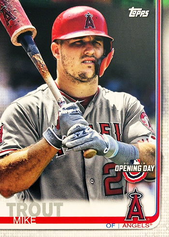 2019 Topps Opening Day Baseball Variations 24 Mike Trout