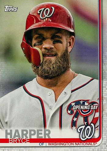 2019 Topps Opening Day Baseball Variations Bryce Harper