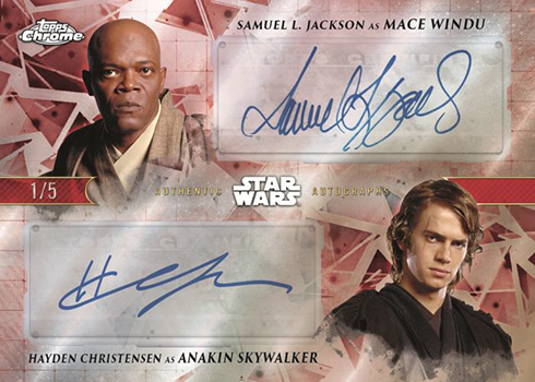 2019 Topps Star Wars Chrome Legacy Dual Autograph