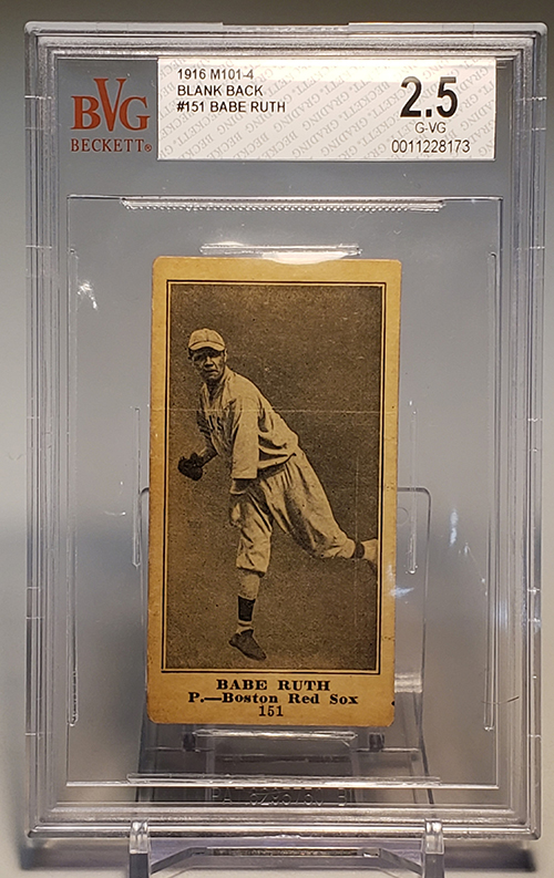 1916 M101-4 Blank Back Babe Ruth 500