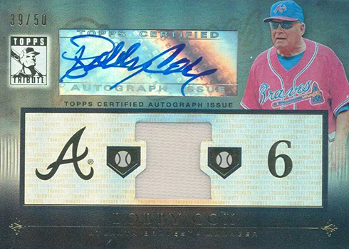 2010 Topps Tribute Bobby Cox Autograph Jersey
