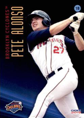 2016 Brooklyn Cyclones Choice Pete Alonso