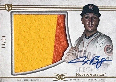 2017 Topps Definitive Collection Alex Bregman Rookie Card